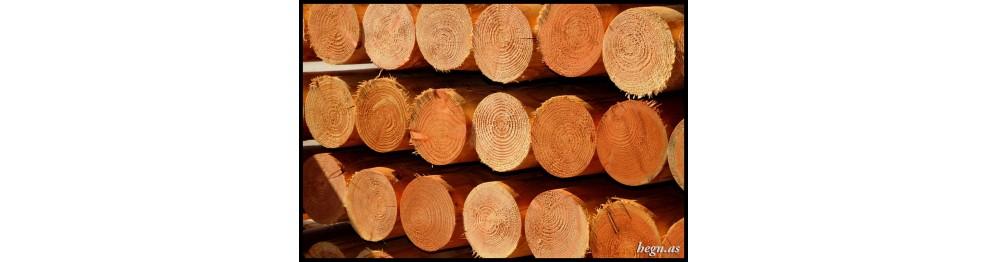 Stolper i lærketræ