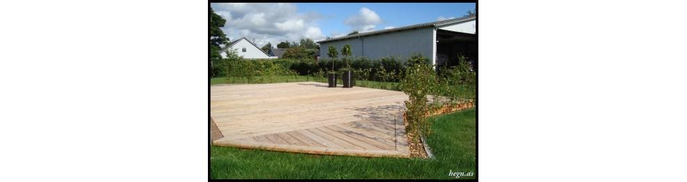Lærketræ: Beklædning/terrassebrædder