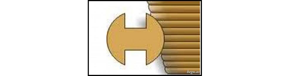 Rund H-stolpe i lærketræ