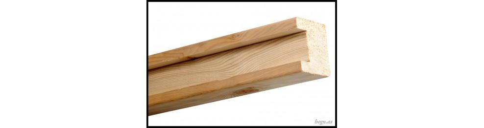 Firkantet H-stolpe i lærketræ